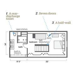 floor plan idea for attic bedroom bathroom conversion only