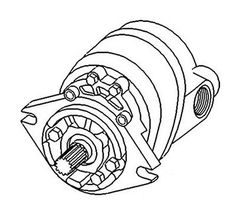 Hydraulic PTO Pump w\Gearbox For Tractor, Backhoe, Loaders