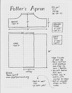 Split leg apron pattern Pottery Making Techniques: A
