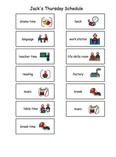 1000+ images about Visual schedules preschool on Pinterest