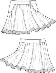 1000+ images about Technical fashion drawings skirts on