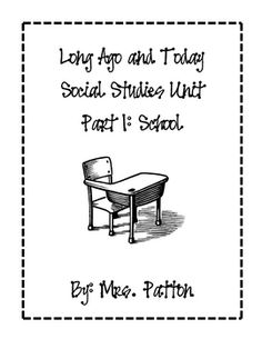 Life long ago and today activities and sorting worksheets