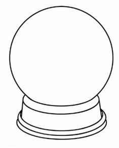 Blank snow globes Snow Globe Template Good PS Ideas