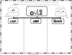 Owl life cycle cut and stick activity (SB8750