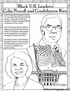 Black History Month coloring book page of African-American