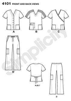 Simplicity 3705 from Simplicity patterns is a Scrubs
