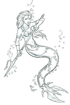 1000+ images about Mermaids to Color on Pinterest