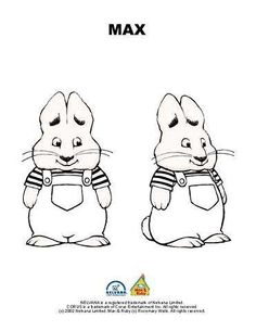 Ruby Watching Over Max Playing In Max And Ruby Printable
