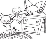 Feel like coloring today? Download our BAD KITTY coloring