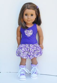 American Girls Clothes PInk Twirly Top By LoriLizGirlsandDolls