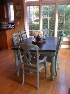 Kitchen Chair Makeover on Pinterest  Kitchen Chairs