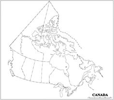 US and Canada Printable Blank Map, with names, royalty