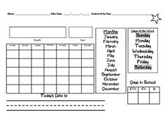 FREE Here is a calendar journal to increase student