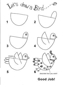 step by step 'how to draw' many different things for kids