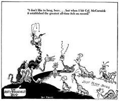 During World War II, Dr. Seuss made political cartoons