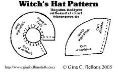 Witch hats, Witches and Sewing patterns on Pinterest