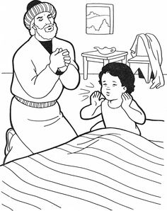 Elisha And The Jar Of Oil (Coloring Page) Coloring pages