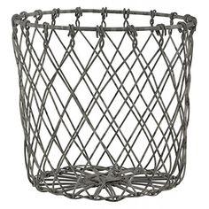 ib laursen cesto in metallo colore zinco diametro cm with