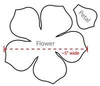 Flower petal pattern. Use the printable outline for crafts
