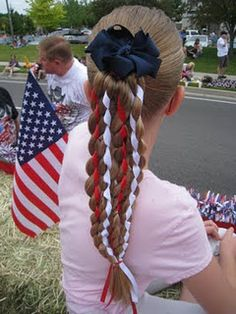Scarf Braid Fourth Of July From Cute Girls Hairstyles Holiday