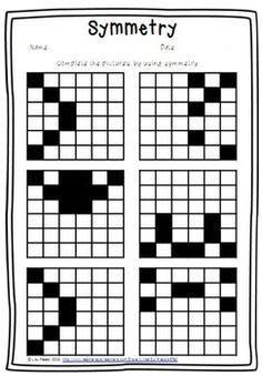 Block Symmetry Worksheets, symmetry worksheets for 2nd
