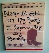 COUNTRY WESTERN HOMES | Western Wood Sign Cowgirl Cowboy ...