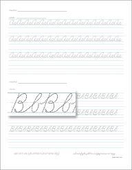 Make your own cursive writing sheets. Great to make for
