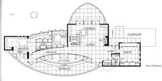 Second floor plan. House, Frank Lloyd Wright Home and