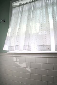 Loving This Window Treatment For My Own Bathroom Window Small