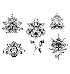 Lotus Mandala Black And White Tattoo Flower, henna, lotus