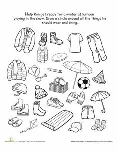 Worksheets, Clothes and ESL on Pinterest