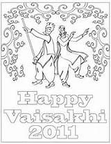 Baisakhi Coloring Pages Vaisakhi Festival Family Holiday