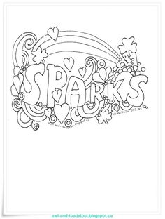 Canadian Sparks Promise folded mini colouring book http