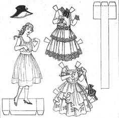 1000+ images about black and white paper dolls on