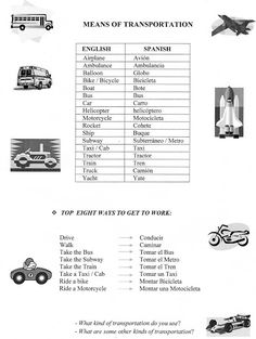 Transportation Multiple Choice B&W worksheet