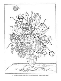 Rose bouquet, Coloring pages and Coloring on Pinterest