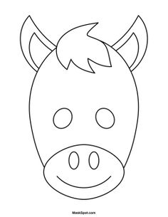 Chicken mask templates including a coloring page version