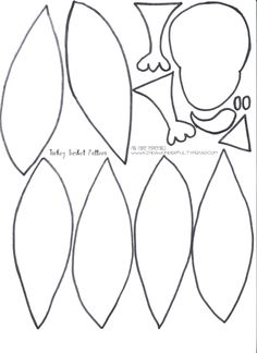 Turkey feather pattern. Use the printable outline for