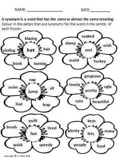 Kids choose to make synonym word pairs or a list of
