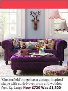 Purple Velvet Sofas Made In Blighty Loaf Casa Encanta Sofa