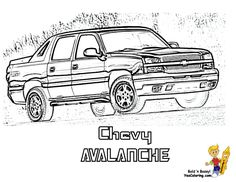 GMC Sierra Denali Truck Coloring Sheet. You Can Print Out