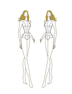 1000+ images about Fashion Croquis of All Sizes on
