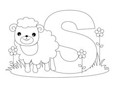 Alphabet coloring pages, Bubble alphabet and Alphabet on