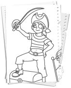 1000+ images about Piraten Kleurplaten on Pinterest
