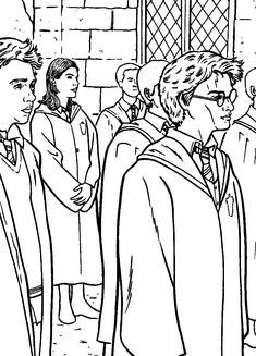 1000+ images about Coloriage HARRY POTTER on Pinterest
