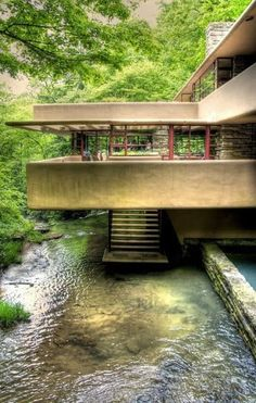 1000 ideas about Falling Water House on Pinterest  Falling Waters Frank Lloyd Wright and