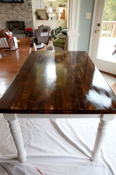 Dining Table Makeover Oil Based Polyurethane Yes It Is Annoying That Your Foam Brush Dries