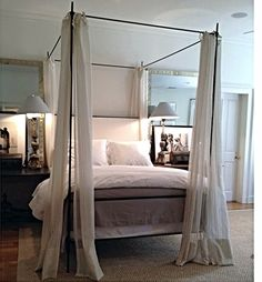 Iron Canopy Bed On Pinterest