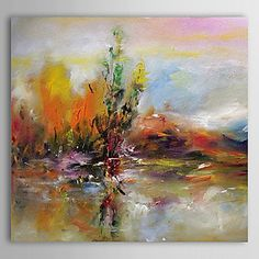 Hand Painted Abstract One Panel Canvas Oil Painting For Home Decoration