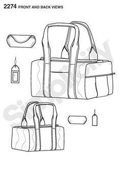 Shopping bag pattern. Use the printable outline for crafts